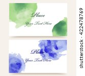 set of business cards with... | Shutterstock .eps vector #422478769