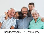 portrait of happy family... | Shutterstock . vector #422489497