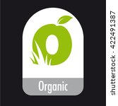 organic health food packaging... | Shutterstock .eps vector #422491387
