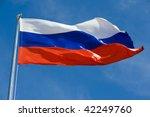 Russian Flag On A Pole Against...