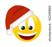 Smiling Smilie In A Hat Santa...