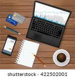 business office workplace.top... | Shutterstock .eps vector #422502001