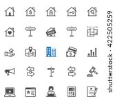 real estate icons with white... | Shutterstock .eps vector #422505259