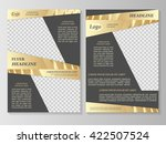 vector flyer template design.... | Shutterstock .eps vector #422507524