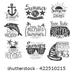 summer vacation vintage stamp... | Shutterstock .eps vector #422510215