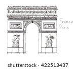 watercolor hand drawn... | Shutterstock . vector #422513437