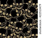 skull background | Shutterstock .eps vector #422513479