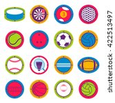 colorful sports balls. football ... | Shutterstock .eps vector #422513497