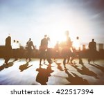 business people rush hour... | Shutterstock . vector #422517394