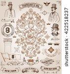 victorian  scrollwork design... | Shutterstock .eps vector #422518237