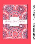 mandala vintage template card... | Shutterstock .eps vector #422519731