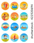 summer holidays color icons... | Shutterstock .eps vector #422520694