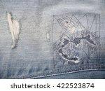 old jean texture | Shutterstock . vector #422523874