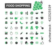 food shopping icons    Shutterstock .eps vector #422525539