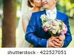 crazy in love newlyweds are... | Shutterstock . vector #422527051