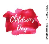 happy children's day holiday ... | Shutterstock .eps vector #422527837