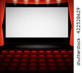 cinema auditorium  with screen... | Shutterstock .eps vector #422528629