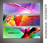 set of colorful flyer  brochure ... | Shutterstock .eps vector #422530279
