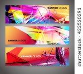 set of colorful flyer  brochure ... | Shutterstock .eps vector #422530291