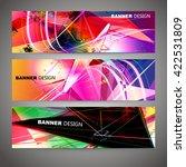 set of colorful flyer  brochure ... | Shutterstock .eps vector #422531809