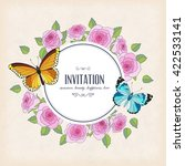 vector invitation card with... | Shutterstock .eps vector #422533141