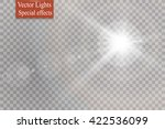 vector transparent sunlight... | Shutterstock .eps vector #422536099