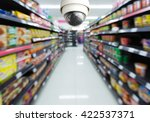cctv system security and... | Shutterstock . vector #422537371
