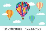 hot air balloons in the sky... | Shutterstock .eps vector #422537479