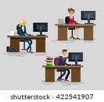 vector detailed character... | Shutterstock .eps vector #422541907