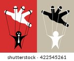 puppet is controlled by hand  ... | Shutterstock .eps vector #422545261