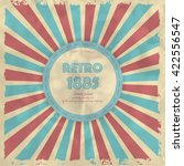 retro background with radial... | Shutterstock .eps vector #422556547