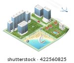 build your own isometric city.... | Shutterstock .eps vector #422560825