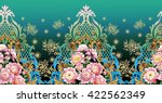 Seamless Vintage Border With...