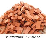 Heap Of Red Brick At Day ...