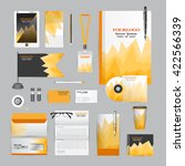 white identity template with... | Shutterstock .eps vector #422566339