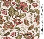vintage seamless pattern  in... | Shutterstock .eps vector #422569945