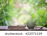 notebook with pencil and... | Shutterstock . vector #422571139