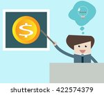 man pointing to money | Shutterstock .eps vector #422574379