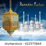 ramadan background with mosque... | Shutterstock .eps vector #422575864