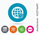 wifi  sms and calendar icons.... | Shutterstock . vector #422576695