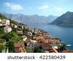 cottages by the sea on a... | Shutterstock . vector #422580439