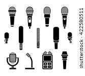 Microphone Types Black Icons...