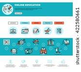 e learning  education or... | Shutterstock .eps vector #422580661