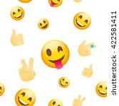 emoji wallpaper. emoticons...   Shutterstock .eps vector #422581411