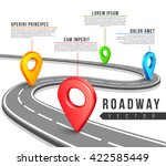 street road map for vector... | Shutterstock .eps vector #422585449