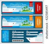 cruise ship boarding pass... | Shutterstock .eps vector #422585497