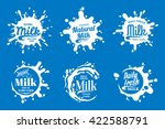 vector milk  yogurt or cream... | Shutterstock .eps vector #422588791
