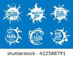vector milk  yogurt or cream... | Shutterstock .eps vector #422588791