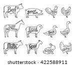 set of butchery logo   Shutterstock .eps vector #422588911