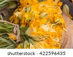Zucchini Blossoms Ready To Eat.
